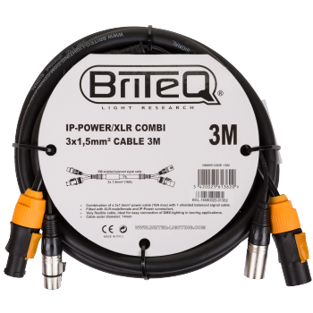 IP-Powercon/XLR combi Cable 3M