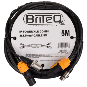 IP-Powercon/XLR combi Cable 5M