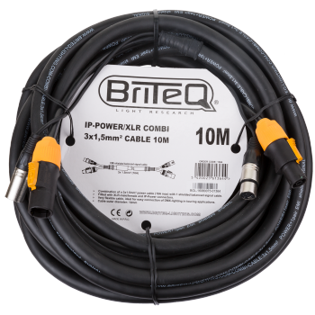 IP-Powercon/XLR combi Cable 10M