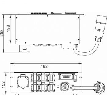 PD-32SH Stromverteiler