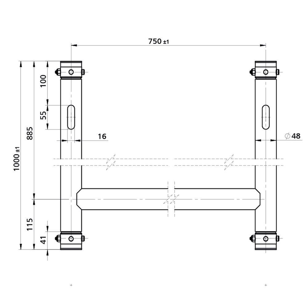 Briteq BT-Truss H-Rahmen mit 750 x 1000 mm