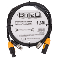 IP-Powercon/XLR combi cable 1M3