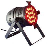 PAR-64 RGB LED 18x3W schwarz