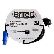 Powercable Powercon-Schuko 2m